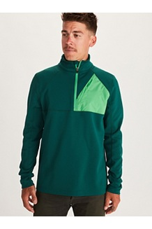 Men's Hanging Rock 1/2-Zip Pullover, Botanical Garden/Kelly Green, medium