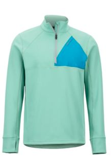 Hanging Rock 1/2 Zip Pullover, Pond Green/Turkish Tile, medium