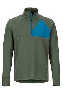 Men's Hanging Rock 1/2-Zip Pullover, Crocodile/Moroccan Blue, medium