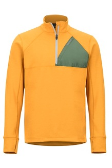 Men's Hanging Rock 1/2-Zip Pullover, Aztec Gold/Crocodile, medium