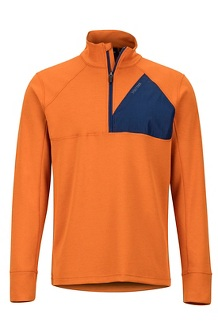 Men's Hanging Rock 1/2-Zip Pullover, Hawaiian Sunset/Arctic Navy, medium