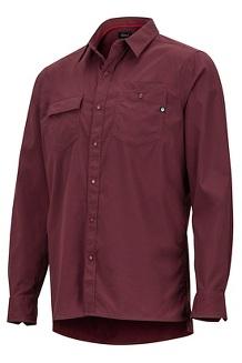 Kapalino LS Shirt, Burgundy, medium