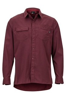 Kapalino LS Shirt, Burgundy, medium
