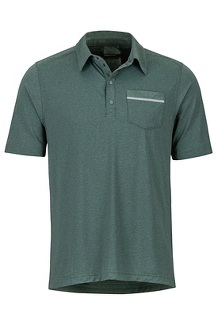Laight Polo SS Shirt, Pond Green, medium