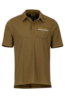 Laight Polo SS Shirt, Aztec Gold, medium