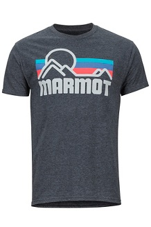 Men's Marmot Coastal Short-Sleeve T-Shirt, Charcoal Heather, medium