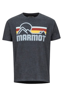 Men's Marmot Coastal Short-Sleeve T-Shirt, New Charcoal Heather, medium