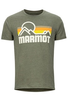 Men's Marmot Coastal Short-Sleeve T-Shirt, New Olive Heather, medium