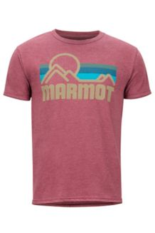 Marmot Coastal SS Tee, Burgundy Heather, medium