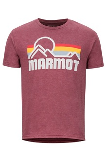 Men's Marmot Coastal Short-Sleeve T-Shirt, True Burgundy Heather, medium