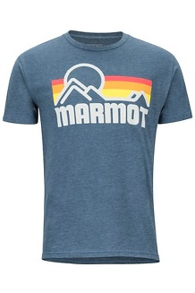 Men's Marmot Coastal Short-Sleeve T-Shirt, Navy Heather, medium