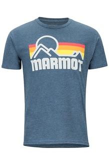 Men's Marmot Coastal Short-Sleeve T-Shirt, Navy Heather, medium