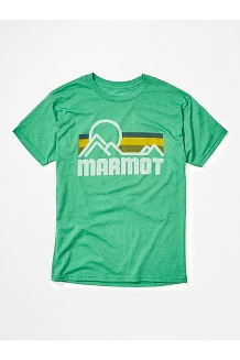 Men's Marmot Coastal Short-Sleeve T-Shirt, Green Heather, medium