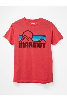 Men's Coastal Short-Sleeve T-Shirt, True Red Heather, medium