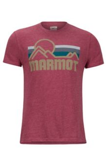 Marmot Coastal Tee SS, New Burgundy Heather, medium