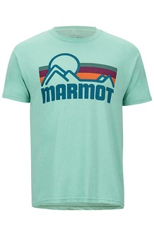 Men's Marmot Coastal Short-Sleeve T-Shirt, Pond Green Heather, medium