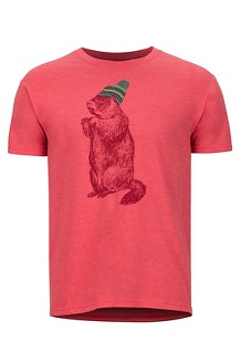 Men's Pom Pom Short-Sleeve T-Shirt, Red Heather, medium