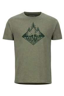 Men's Rising Forest Short-Sleeve T-Shirt, Olive Heather, medium