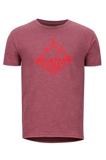 Men's Rising Forest Short-Sleeve T-Shirt, Burgundy Heather, medium