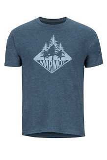 Men's Rising Forest Short-Sleeve T-Shirt, Navy Heather, medium
