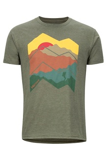 Men's Zig Zag Mountains Short-Sleeve T-Shirt, Olive Heather, medium