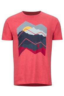 Men's Zig Zag Mountains Short-Sleeve T-Shirt, Red Heather, medium