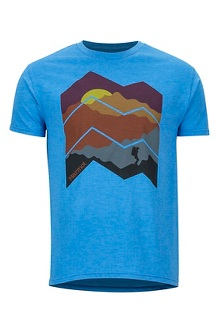 Men's Zig Zag Mountains Short-Sleeve T-Shirt, Royal Heather, medium