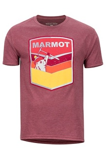 Men's Retro Short-Sleeve T-Shirt, Burgundy Heather, medium