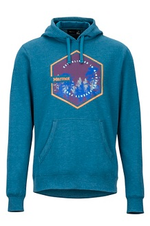 Men's Peakview Hoody, Moroccan Blue Heather, medium
