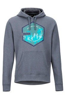 Men's Peakview Hoody, Steel Onyx Heather, medium