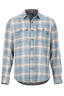 Men's Jasper Midweight Flannel Long-Sleeve Shirt, Dark Indigo, medium