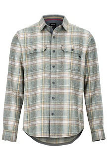 Men's Jasper Midweight Flannel Long-Sleeve Shirt, Rosin Green, medium