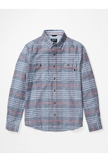 Men's Jasper Midweight Flannel Long-Sleeve Shirt, Arctic Navy Heather, medium