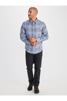 Men's Jasper Midweight Flannel Long-Sleeve Shirt, Oatmeal Heather, medium