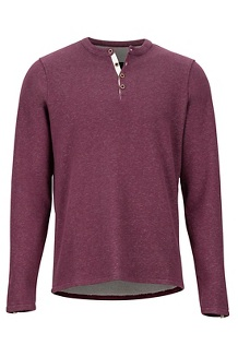 Men's Cooper Long-Sleeve Shirt, Fig, medium