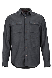 Men's Kingsbury Long-Sleeve Shirt, Dark Steel, medium