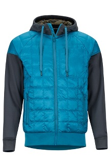 Men's Martis Peak Hoody, Moroccan Blue/Dark Steel, medium