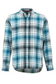 Men's Harkins Lightweight Flannel Long-Sleeve Shirt, Moroccan Blue, medium