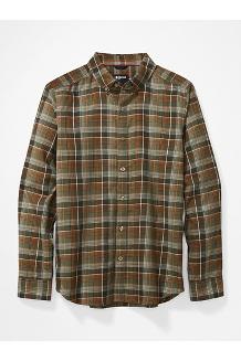 Men's Harkins Lightweight Flannel Long-Sleeve Shirt, Crocodile, medium