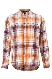 Men's Harkins Lightweight Flannel Long-Sleeve Shirt, Fig, medium