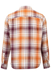 Men's Harkins Lightweight Flannel Long-Sleeve Shirt, Fig, medium
