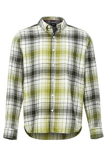 Men's Harkins Lightweight Flannel Long-Sleeve Shirt, Rosin Green, medium