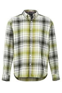 Men's Harkins Lightweight Flannel Long-Sleeve Shirt, Rosin Green, medium