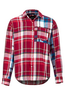 Men's Asheville Midweight Flannel Long-Sleeve Shirt, Brick, medium