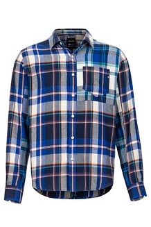 Men's Asheville Midweight Flannel Long-Sleeve Shirt, Surf, medium