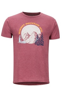Boback SS Tee, Burgundy Heather, medium