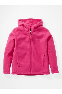 Kids' Rocklin Fleece Hoody, Very Berry, medium