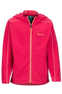 Girls' Rocklin Hoody, Disco Pink, medium