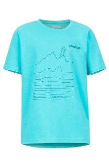 Boys' Purview SS Tee, Tahiti Blue Heather, medium