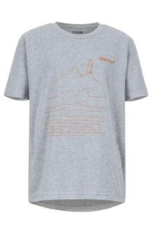 Boys' Purview SS Tee, Dark Grey Heather, medium